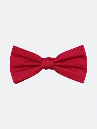 Dressmann Solid Poly Bow Tie Red   Mens Bowties