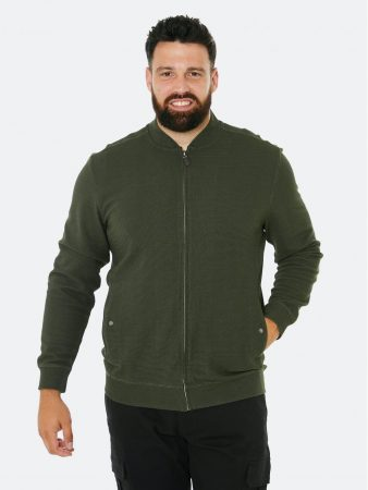 Dressmann XL Bomber Structured  Ford Olive green   Mens Sweaters